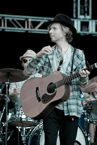 Beck photographed at The Bridge School Benefit at The Shoreline Amphitheatre in Mountain View, CA October 23, 2011. Credit: Jay Blakesberg/MediaPunch