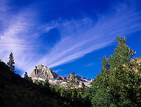 "Streaking clouds above ""Inconsolable Range"" near North Lake, Eastern Sierras. California."