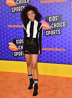Daniella Perkins at the Nickelodeon Kids' Choice Sports Awards 2018 at Barker Hangar, Santa Monica, USA 19 July 2018<br /> Picture: Paul Smith/Featureflash/SilverHub 0208 004 5359 sales@silverhubmedia.com