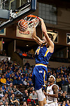 SIOUX FALLS, SD - NOVEMBER 26:  Mike Daum #24 from South Dakota State University slams home two points against East Tennessee State University during their game at the Sanford Pentagon Saturday evening in Sioux Falls. (Photo by Dave Eggen/Inertia)