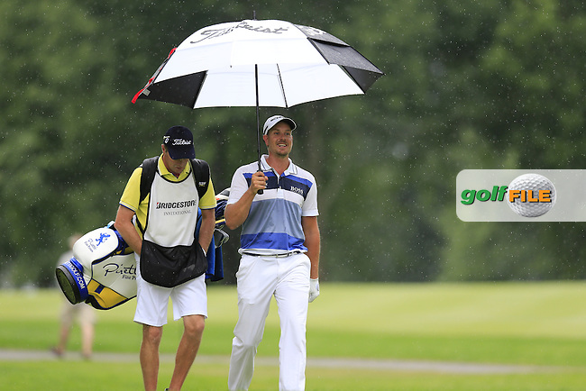 Henrik Stenson (SWE) walks off the 9th tee during Friday's Round 1 of the 2013 Bridgestone Invitational WGC tournament held at the Firestone Country Club, Akron, Ohio. 2nd August 2013.<br /> Picture: Eoin Clarke www.golffile.ie
