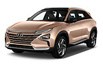 2019 Hyundai Nexo Limited 5 Door SUV Angular Front automotive stock photos of front three quarter view