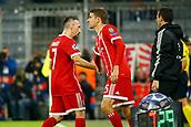 September 12th 2017, Munich, Germany, Champions League football, Bayern Munich versus Anderlecht;   Franck Ribery of Bayern Munchen  and Thomas Muller of Bayern Munchen