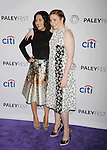 HOLLYWOOD, CA - MARCH 08: Executive producer Jenni Konner (L) and creator/executive producer Lena Dunham attend The Paley Center For Media's 32nd Annual PALEYFEST LA - 'Girls' at Dolby Theatre on March 8, 2015 in Hollywood, California.