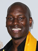 HOLLYWOOD, LOS ANGELES, CA, USA - JUNE 01: Actor Tyrese Gibson poses with the Best Global Movie of the Year Award for 'Fast & Furious 6' in the press room at the 12th Annual Huading Film Awards held at the Montalban Theatre on June 1, 2014 in Hollywood, Los Angeles, California, United States. (Photo by Xavier Collin/Celebrity Monitor)