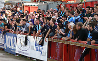 Wycombe fans during the Sky Bet League 2 match between Exeter City and Wycombe Wanderers at St James' Park, Exeter, England on 26 September 2015. Photo by Pinnacle Photo Agency.