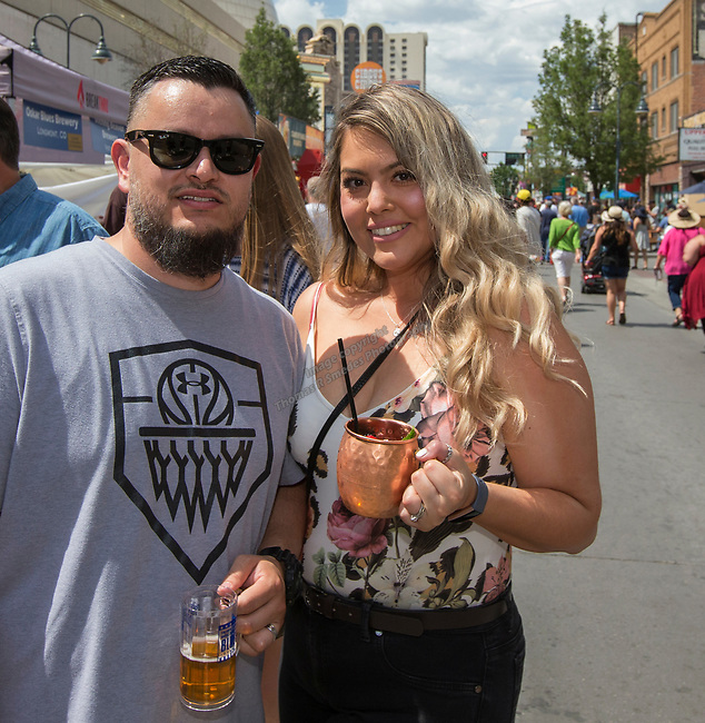 Sal and Robin during the 24th Annual Great Eldorado Brews and Blues Festival in Reno, Nevada on Saturday, June 15, 2019.