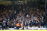 Southend United fans applaud Theo Robinson after scoring his second goal during the Sky Bet League 1 match between Southend United and MK Dons at Roots Hall, Southend, England on 21 April 2018. Photo by Carlton Myrie.