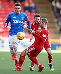 03.03.2019 Aberdeen v Rangers: James Tavernier with Graeme Shinnie and Niall McGinn