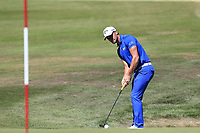 Haydn Porteous (RSA) putts on the 5th green during Sunday's Final Round 4 of the 2018 Omega European Masters, held at the Golf Club Crans-Sur-Sierre, Crans Montana, Switzerland. 9th September 2018.<br /> Picture: Eoin Clarke | Golffile<br /> <br /> <br /> All photos usage must carry mandatory copyright credit (&copy; Golffile | Eoin Clarke)