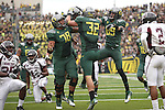 09/17/11-- Oregon tight end Colt Lyeria celebrates with teammates after scoring a  touchdown in the third quarter against Missouri State at Autzen Stadium in Eugene, Or....Photo by Jaime Valdez. ...........................................