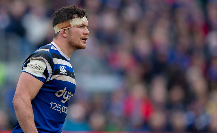 Bath's Francois Louw<br /> <br /> Photographer Bob Bradford/CameraSport<br /> <br /> Gallagher Premiership - Bath Rugby v Newcastle Falcons - Saturday 16th February 2019 - The Recreation Ground - Bath<br /> <br /> World Copyright © 2019 CameraSport. All rights reserved. 43 Linden Ave. Countesthorpe. Leicester. England. LE8 5PG - Tel: +44 (0) 116 277 4147 - admin@camerasport.com - www.camerasport.com