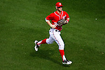 Washington Nationals outfielder Bryce Harper (34) runs in from the outfield during a game against the Miami Marlins at Nationals Park in Washington, DC on September 8, 2012.