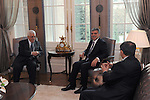 Palestinian President, Mahmoud Abbas (Abu Mazen)during a meeting with Turkish President Abdullah Gul in the Turkish capital Ankara on Dec 20, 2011. Photo by Thaer Ghanaim
