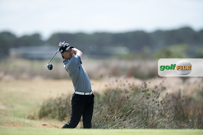 Ryo Ishikawa (JPN) during the 2nd round of the VIC Open, 13th Beech, Barwon Heads, Victoria, Australia. 08/02/2019.<br /> Picture Anthony Powter / Golffile.ie<br /> <br /> All photo usage must carry mandatory copyright credit (© Golffile | Anthony Powter)