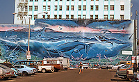 Santa Monica CA: Mural.  Photo '91.