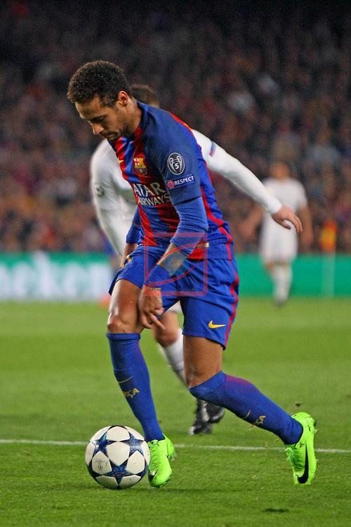 UEFA Champions League 2016/2017.<br /> Round of 16 2nd leg<br /> FC Barcelona vs Paris Saint-Germain: 6-1.<br /> Marco Verratti vs Neymar Jr.