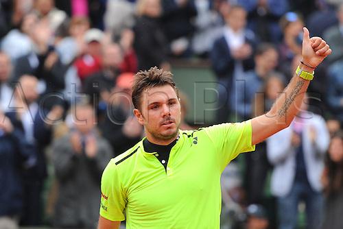 29.05.2016. Stade Roland Garros, Paris, France. Roland Garros French Open Tennis Day 8.  Stan Wawrinka (SUI)