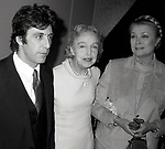 Al Pacino, Lillian Gish and Princess Grace Kelly attend the Theatre Hall Of Fame Awards held on March 28, 1982 at the Uris Theater, now called the Gershwin Theater, New York City.