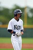 GCL Rays Shane Sasaki (8) during a Gulf Coast League game against the GCL Pirates on August 7, 2019 at Charlotte Sports Park in Port Charlotte, Florida.  GCL Rays defeated the GCL Pirates 4-1 in the first game of a doubleheader.  (Mike Janes/Four Seam Images)