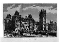 FILE IMAGE -  Canadian House of commons in Ottawa<br /> <br /> Drawing by Deroy