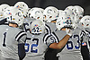 Oceanside teammates celebrate after their 17-0 win over Freeport in the Nassau County Conference I varsity football final at Hofstra University on Saturday, Nov. 18, 2017.