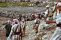 Iraq 1963  .3r from left, Idris Barzani and 4th, Masoud Barzani with their peshmergas.Irak 1963.3eme de gauche Idris Barzani et 4eme Masoud Barzani avec leurs peshmergas