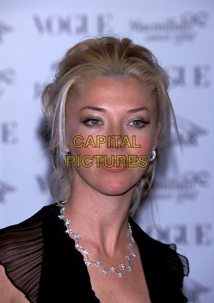 TAMARA BECKWITH.Ref:10899PL.diamond and silver necklace headshot portrait.sales@capitalpictures.com.www.capitalpictures.com.©Capital Pictures.