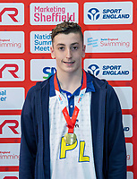 Picture by Allan McKenzie/SWpix.com - 05/08/2017 - Swimming - Swim England National Summer Meet 2017 - Ponds Forge International Sports Centre, Sheffield, England - Jack Plummer takes gold in the mens 15yrs 50m breaststroke.