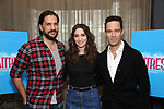 "Will Swenson, Sara Bareilles and Chris Diamantopoulos attend the Meet the new cast of ""Waitress"" at St. Cloud Rooftop Restaurant at The Knickerbocker Hotel on March 23, 2017 in New York City."