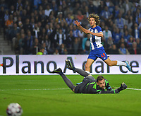 27th October 2019; Dragao Stadium, Porto, Portugal; Portuguese Championship 2019/2020, FC Porto versus Famalicao; Fabio Silva of FC Porto shoots and scores for 3-0 in the 88th minute