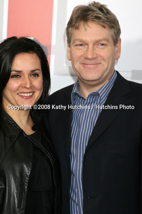 "Kenneth Branagh & Lindsay Brunnock arriving at the LA  Premiere of ""Valkyrie"" at the Director's Guild of America Theater in Los Angeles, CA on December 18, 2008.©2008 Kathy Hutchins / Hutchins Photo..                ."