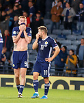 06.09.2019 Scotland v Russia, European Championship 2020 qualifying round, Hampden Park:<br /> Oli McBurnie and Ryan Fraser dejection at full time