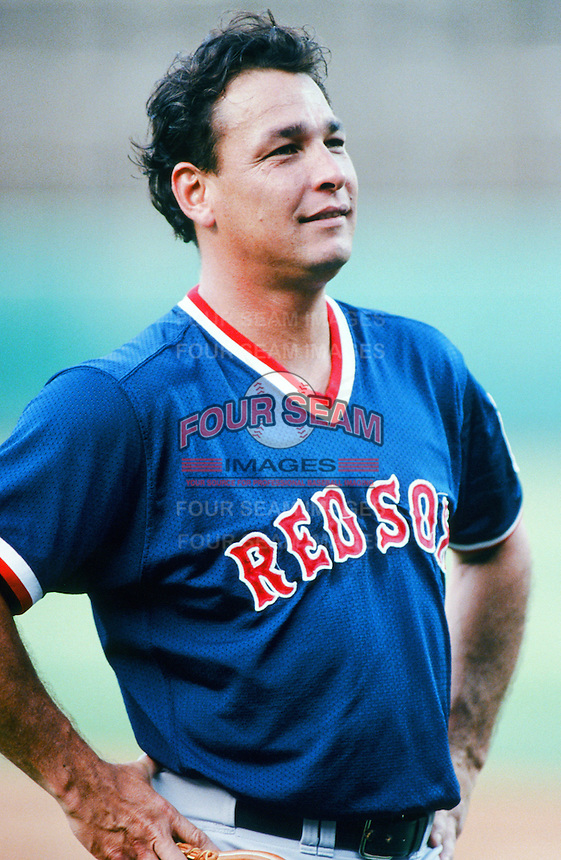 Mark Portugal of the Boston Red Sox before a 1999 Major League Baseball season game against the Anaheim Angels in Anaheim, California. (Larry Goren/Four Seam Images)