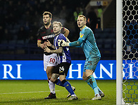 Bolton Wanderers' Yanic Wildschut competing with Sheffield Wednesday's Ashley Baker and Cameron Dawson <br /> <br /> Photographer Andrew Kearns/CameraSport<br /> <br /> The EFL Sky Bet Championship - Sheffield Wednesday v Bolton Wanderers - Tuesday 27th November 2018 - Hillsborough - Sheffield<br /> <br /> World Copyright © 2018 CameraSport. All rights reserved. 43 Linden Ave. Countesthorpe. Leicester. England. LE8 5PG - Tel: +44 (0) 116 277 4147 - admin@camerasport.com - www.camerasport.com