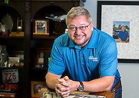 NWA Democrat-Gazette/JASON IVESTER<br /> Hank Henderson, chief executive officer of Car-Mart; photographed on Wednesday, April 27, 2016, in his Bentonville office for spotlight on Run for the Roses