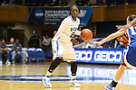 17 November 2012: Duke's Alexis Jones. The Duke University Blue Devils played the Presbyterian College Blue Hose at Cameron Indoor Stadium in Durham, North Carolina in an NCAA Division I Women's Basketball game. Duke won the game 84-45.
