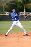 Fernando Tatis Jr participates in the Dominican Prospect League 2014 Louisville Slugger Tournament at the New York Yankees academy in Boca Chica, Dominican Republic on January 20-21, 2014 (Bill Mitchell)