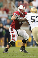 24 November 2007: Ben Muth during Stanford's 21-14 loss to Notre Dame at Stanford Stadium in Stanford, CA.
