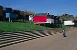AF5GNF Beach huts and promenade Walton on the Naze  Essex England
