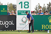 Eddie Pepperell (ENG) on the 18th during Round 4 of the Portugal Masters, Dom Pedro Victoria Golf Course, Vilamoura, Vilamoura, Portugal. 27/10/2019<br /> Picture Andy Crook / Golffile.ie<br /> <br /> All photo usage must carry mandatory copyright credit (© Golffile | Andy Crook)