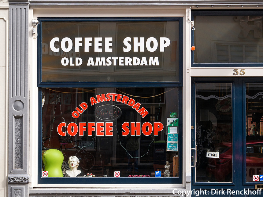 Coffee Shop bei der Amstelstraat, Amsterdam, Provinz Nordholland, Niederlande<br /> Coffee Shop at Amstelstraat, Amsterdam, Province North Holland, Netherlands