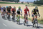 The breakaway group in action during Stage 9 of the 2018 Tour de France running 156.5km from Arras Citadelle to Roubaix, France. 15th July 2018. <br /> Picture: ASO/Pauline Ballet | Cyclefile<br /> All photos usage must carry mandatory copyright credit (&copy; Cyclefile | ASO/Pauline Ballet)
