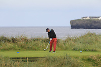 Arthur Pierse (Tipperary) on the 4th tee during Matchplay Round 2 of the South of Ireland Amateur Open Championship at LaHinch Golf Club on Friday 22nd July 2016.<br /> Picture:  Golffile | Thos Caffrey<br /> <br /> All photos usage must carry mandatory copyright credit   (© Golffile | Thos Caffrey)