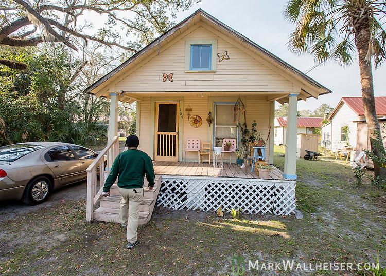 Shotgun houses rehabed to tiny houses in Apalachicola, Fl