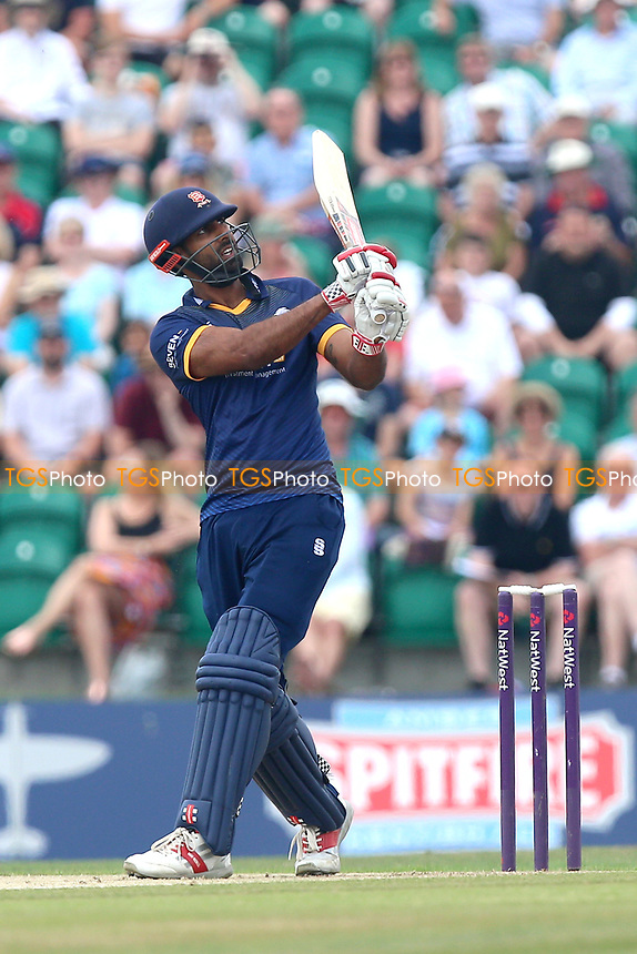 Varun Chopra of Essex hits six runs during Kent Spitfires vs Essex Eagles, NatWest T20 Blast Cricket at The County Ground on 9th July 2017
