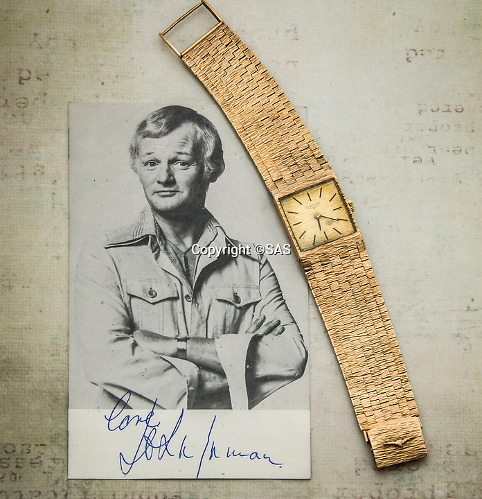BNPS.co.uk (01202 558833)<br /> Pic:  SAS/BNPS<br /> <br /> His gold watch.<br /> <br /> Not Free! - 'King of Camp' John Inman's archive to be auctioned.<br /> <br /> Possessions from the estate of the late TV star John Inman have emerged for sale.<br /> <br /> The actor graced the small screen in the hit BBC comedy 'Are You Being Served' for 13 years from 1972 to 1985.<br /> <br /> The auction includes mementos from the sitcom which attracted 22 million viewers at its peak and spawned a film.