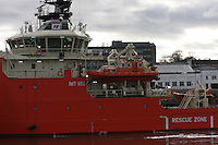 Oil Supply Ship Grampian Don leaving Aberdeen Harbour..