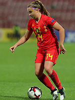 20191008 CLUJ NAPOCA:Belgium's Davinia Vanmechelen (14) is pictured during the match between Belgium Women's National Team and Romania Women's National Team as part of EURO 2021 Qualifiers on 8th of October 2019 at CFR Stadium, Cluj Napoca, Romania. PHOTO SPORTPIX | SEVIL OKTEM