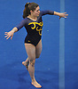 Gillian Murphy of Massapequa performs her floor routine during a Nassau County varsity gymnastics meet against host Long Beach High School in Lido Beach on Thursday, Jan. 11, 2018. She scored an 8.85 in the event and won the all-around with a 35.30. Massapequa won the meet by a score of 166.30-152.20.